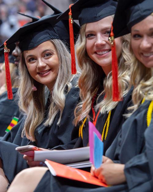 Graduating Students waiting to receive their diplomas